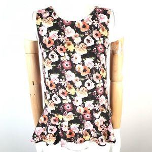 H&M peplum floral top